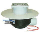 HL64.1BP/7 Dachabl. DN75 waagr m. PVC- Kragen u. Heizung 10-30W/230V. begehbar