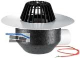 HL64.1P/7 Dachabl. DN75 waagr m. PVC- Kragen u. Heizung (10-30W/230).