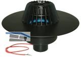 HL62.1F/7 Dachabl. DN75 m. PP-Kragen. u Heizung (10-30W/230V).