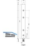 Anschlusseinheit zu Falzhebelgetriebe, Secury Automatic 270 mm, oben, universal