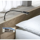 Bettpaneelleuchte Area Light mit Dimmfunktion, schwarz, 1,4 W 12 V/DC