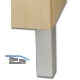 Dekorfuß Square 45x45 mm, Länge 120 mm, Kunststoff silberfarbig