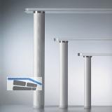 Tischfuß-Adapterscheibe ø 50 mm, Edelstahl