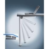 Tischfuß \Click\ ø 50 mm, Länge 705 mm, Aluminium silber gerillt