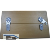 Tischplattenverbinder RAMTI, Bohrbild 32 mm, Kunststoff grau/Zink Druckguss