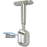 Schrankrohrlager Oval 7-für Schrankrohr geschlossen 30 x 15 mm, Zamak verchromt