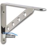 Garderobenkonsole Keket Schräge mit 4 Löchern, Stahl Edelstahl Effekt