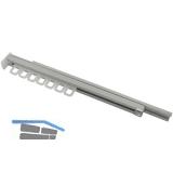Schrankgarderobe ausziehbar Modell C,23x40x305mm,Aluminium natur/Kunststoff weiß