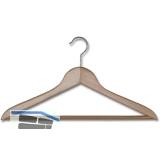 Kleiderbügel Unut 1 drehbar, mit Hosensteg, Buche lackiert