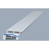 Hohlkammerleiste 100/7 mit selbstklebender Folie Weiß 6000mm