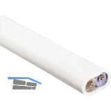 Zuleitungskabel 2-polig, 2 x 0,75 / HO3VH-H, L 10 m, grau