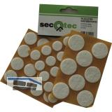 SECOTEC Filzgleiter-Set selbstklebend rund 44-tlg. weiß 17/22/28 mm SB-1