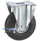 Bockrolle mit Stahlblechfelge Luft-Bereifung 200 x 50 mm/Platte 140 x 110 mm