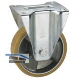 Bockrolle mit Alufelge Polyurethan-Bereifung  80 x 25 mm/Platte 100 x 85 mm