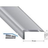 Gleitabschlussprofil Vinyl Click Sheets, Alu silber eloxiert, 2700 mm