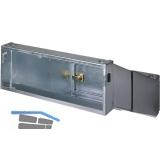 Durchwurfbriefkasten schräg, ausziehbar, 300x110x265-410, Stahl verzinkt