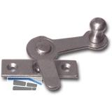 Zungenreiber mit Eisenknopf auf eckiger, gerader Platte, Stahl blank, links, 15