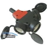 Gummihängekupplung 3-fach 16 Ampere 250 Volt IP44