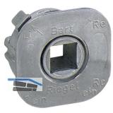 JuNie 7616 Vierkantnuss ASS Schließeinsatz, 7 mm, Zink roh
