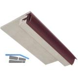 Anschlag- Bodenschiene mit Dichtung, 930 mm, Aluminium/Dichtung beige