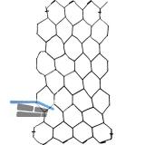 H+S Sechseckgeflecht verzinkt MW 25 mm, Breite 1000 mm, 1 Rolle=50 Meter
