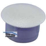 Abdeckkappe für Blindlöcher, Außen ø10, Schaft ø5, Kunststoff silber RAL 9006