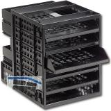 Ablagebox Ninka 1, Breite 250 mm, Höhe 320 mm, Kunststoff schwarz RAL 9011