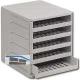 Ablagebox Ninka Ordner, Breite 275 mm, Höhe 320 mm, Kunststoff weißgrau