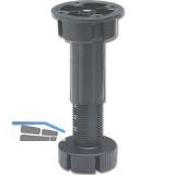Abstützfuß für Mittelsteg, H verstellbar 150-200, Kunststoff schwarz