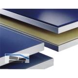 Glasrahmenprofil breit 50 x 16 mm, Aluminium natur eloxiert