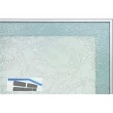 Glasrahmenprofil breit, 2. Dichtungsnut, 50 x 20,6 mm, Aluminium natur eloxiert