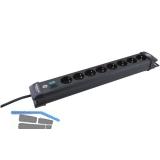 BRENNENSTUHL 8-fach Verteiler schwarz mit Schalter Länge 490 mm