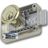 JuNie 2828 Zylinder-Kastenschloss Sperre BN 0101, Zylinder Messing poliert