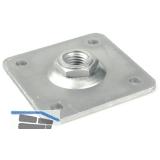 Aufschraubplatte für Anschweißband, Stahl verzinkt