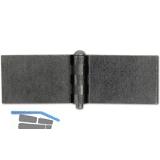 Anschweißscharnier Rolle ø 22 mm, Bandlappen 75x50 mm,Stahl blank