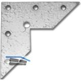 Aufhängeösen, 100 x 100 x 2 mm, Stahl verzinkt