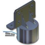Aufnahmeteil für Sockelverstellfuß HERD, Art. Nr. 323 390-394,Kunststoff schwarz
