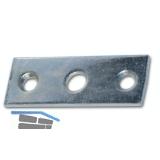 Schließblech f. Aufspreizstangen, 60 x 22 mm, Loch ø 8,2 mm, Stahl verzinkt