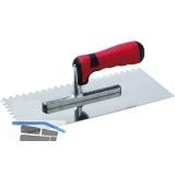 SCHULLER Auftrag Glättkelle 280 x 130 mm rostfrei zweiseitig gezahnt 6 x 6 mm