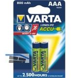 VARTA Batterie Longlife Akku HR03/AAA 1.2V 800 mAh (2 St)