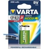 VARTA Batterie Power Akku 6F22 9V 200 mAh (1 St)