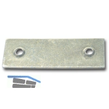 Blindplattl für Einlegstange, 18 x 53 mm, Stahl verzinkt