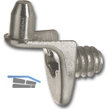 Bodenträger Drill zum Anschrauben, Bohr ø 5 mm, Zink vernickelt, VPE 100 ST