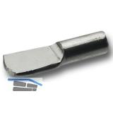 Steckbodenträger Löffelform, Bohr ø 3 mm, vernickelt, VPE 100 ST