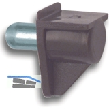 Steckbodenträger Safety, Bohr ø 5 mm, Kunststoff braun, VPE 100 ST