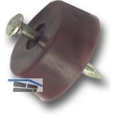 Bodenträger FLAT zum Einschlagen, ø 15 mm, Kunststoff beige