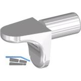 Steckbodenträger Winkel 1, Bohr ø 5 mm, Zink vernickelt, VPE 100 ST