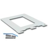 Bücherbügel 10801, 142 x 118 mm, Stahl weiß (ähnlich RAL 9003)