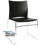 TOPSTAR Web-Chair Besucherstuhl, Sitz/ Rückenlehne KS schwarz, Gestell verchr.