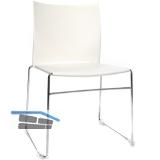 TOPSTAR Web-Chair Besucherstuhl, Sitzschale-Rückenlehne KS weiß,Gestell verchr.